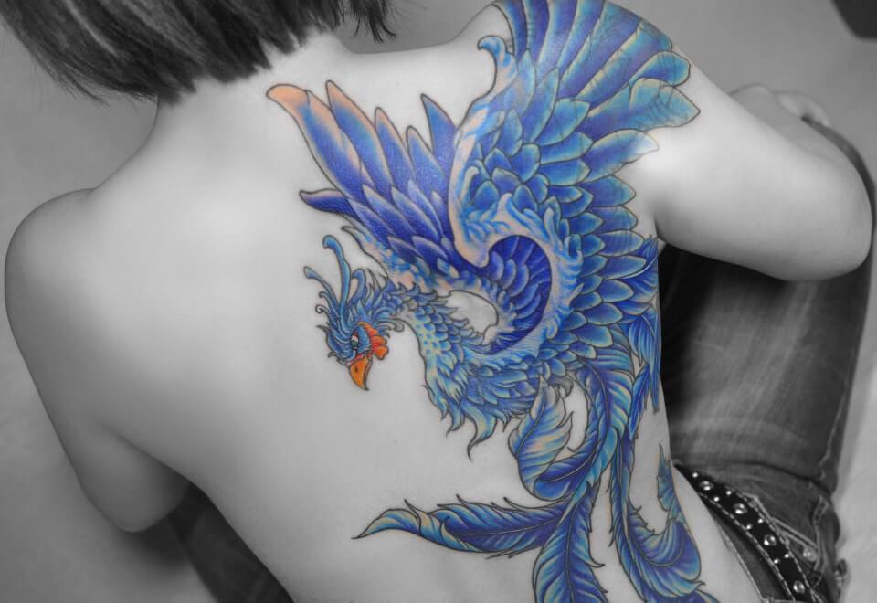 刺青 龍 紫
